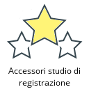 Accessori studio di registrazione
