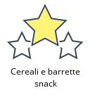 Cereali e barrette snack