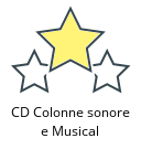 CD Colonne sonore e Musical